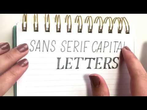 Sans Serif Capital Lettering | What is it and why should you learn?