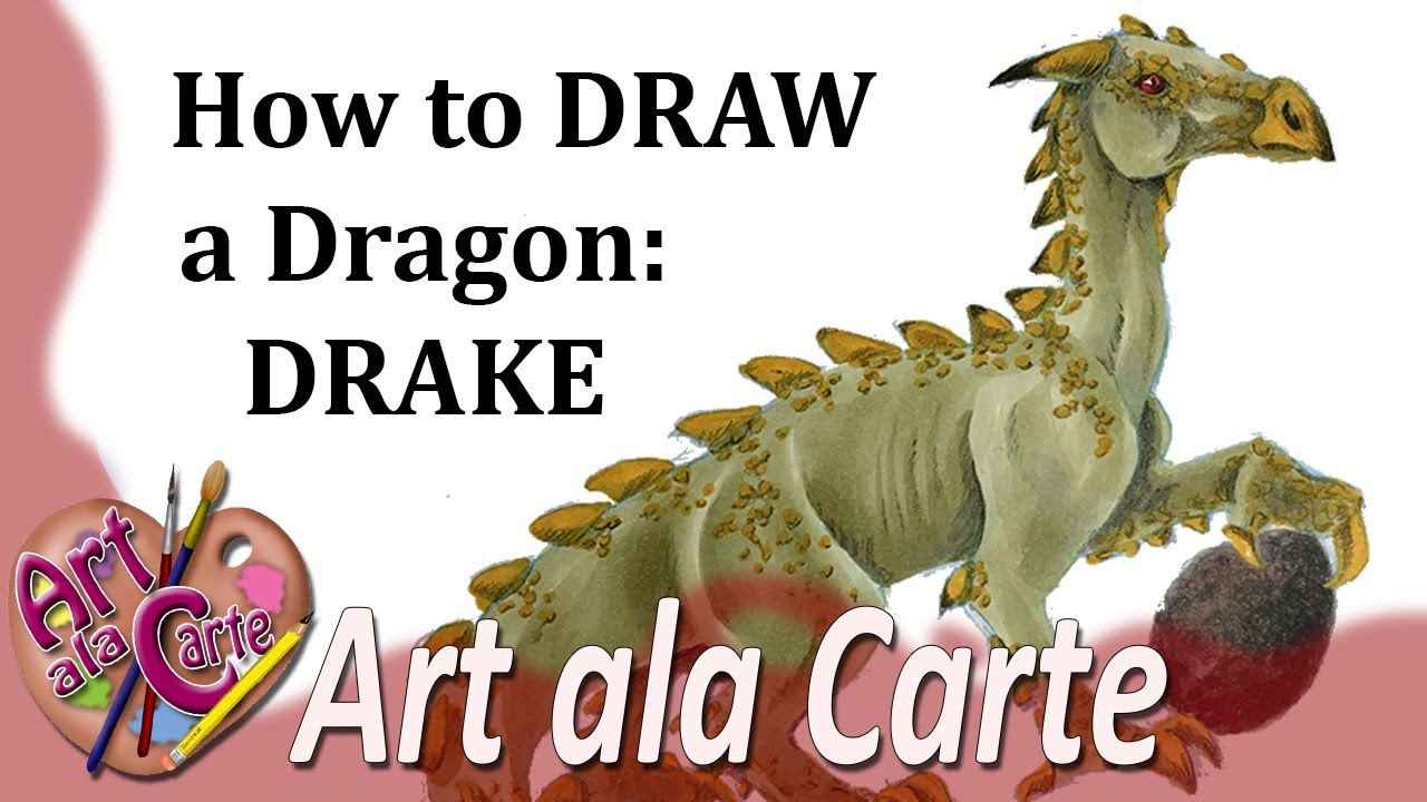 how to draw a dragon drake