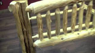 Cedar Lake Small Spindle Log Bed From Logfurnitureplace.com