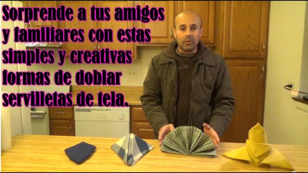 Como doblar servilletas de tela para una mesa youtube - Como doblar servilletas de tela ...