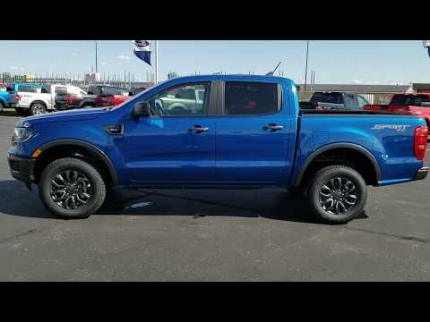 19F283 ALL NEW 2019 FORD RANGER XLT LIGHTNING BLUE CREW BEAVER DAM WISCONSIN www.SUMMITAUTO.com