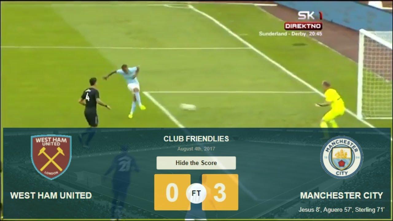 West Ham United vs Manchester City 3-0 -All Goals ...