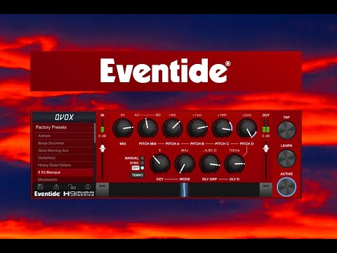 QVox - 4 Voice Pitch Shifter & Delay by Eventide - FULL Tutorial with Examples - iPad AUv3