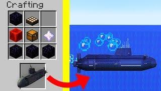 How to craft : Submarine ? Noob vs Pro Minecraft Battle animation challenge