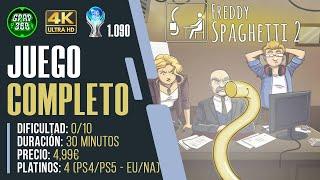 Freddy Spaghetti 2 | Juego COMPLETO: Guía trofeo Platino / 1000g (PLATINO 1.090)