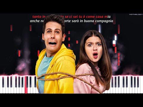 Me contro Te - Insieme | Piano Instrumental Cover | Karaoke, Remix, Testo