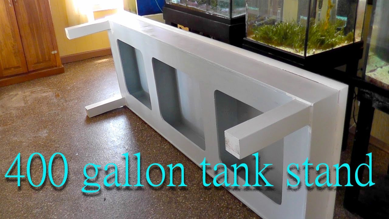 Building a stand for a 400 gallon fish tank   YouTube