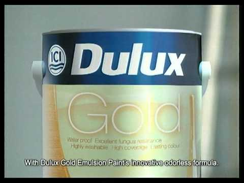 Dulux gold emulsion paint cm youtube for Where to buy wall paint