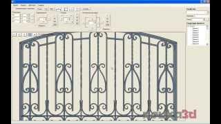 Kovka3D v.1.0.  Работа в программе(Программа «Ковка 3D» - профессиональное проектирование кованых изделий. Официальный сайт - http://www.kovka3d.com., 2015-10-16T14:53:20.000Z)
