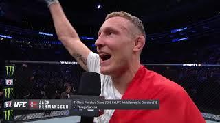 UFC Philadelphia: Jack Hermansson Octagon Interview