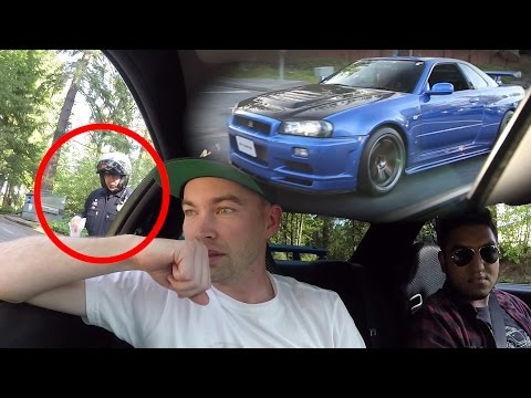 Pulled over Driving my friend's R34 - Nissan Skyline GTR In The USA