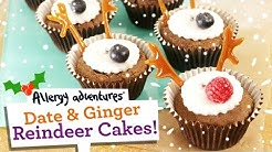 Reindeer Cakes Christmas recipe. (Dairy free, egg free, gluten free, soya free and nut free.)