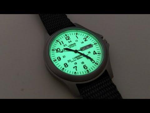 Lorus Full Lumibrite Dial Watch By Seiko
