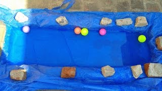 How To Build A Small & Instant Fish Pond On A Concrete Floor(diy)