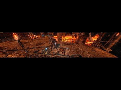 Dark Souls II #28: Fire and Stone (Triple Monitors / Eyefinity / Surround) [~4K]