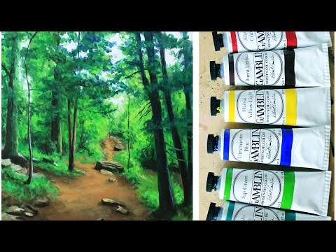 Oil Painting Time-Lapse | Forest Landscape