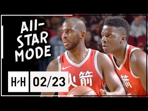 Chris Paul & Clint Capela Full Highlights Rockets vs Timberwolves (2018.02.23) - TOO GOOD!