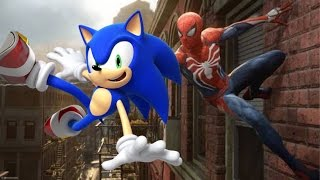 sonic the hedgehog fan made trailer spiderman ps4 e3 trailer style mash up parody