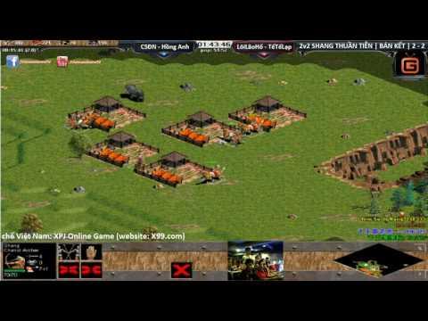 AOE Quảng Đông, 2vs2 Shang Chim Sẻ Đi Nắng, Hồng Anh vs Lôi Lão Hổ, Tế Tế Lạp Bán kết Trận 7