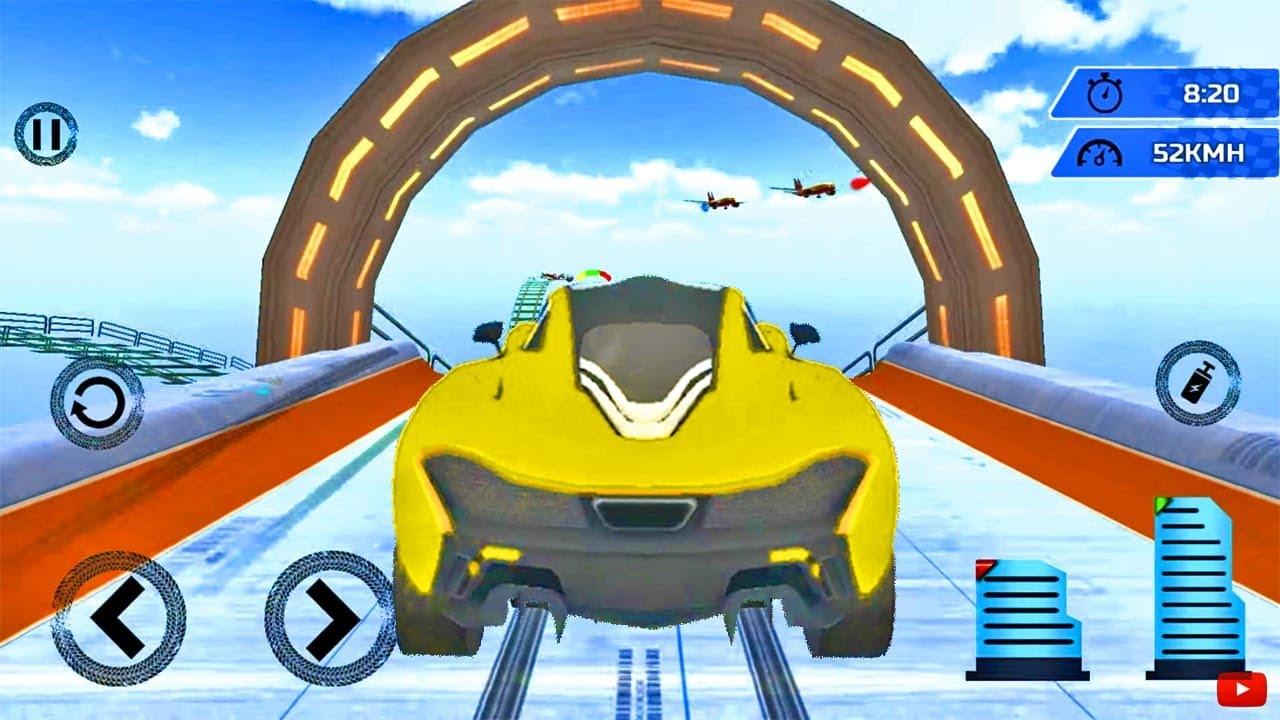 Juegos de Carros - Trailways Ramp Car Stunts - Carreras Reales de Autos