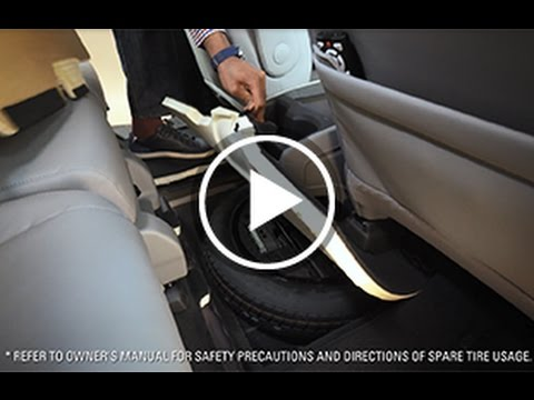 Accessing Spare Tire On The 5th Generation Honda Odyssey Youtube