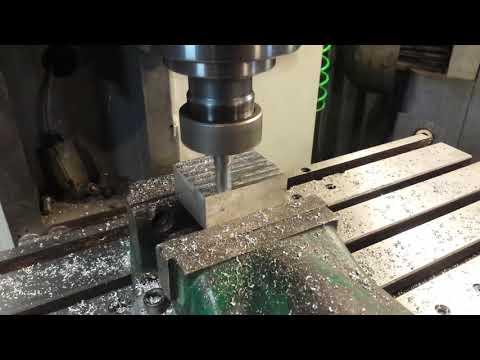 DIY CNC milling machine - first milling 2