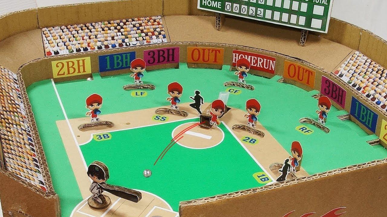 製作 3d棒球遊戲台 Diy 3d Cardboard Baseball Game