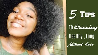 5 Tips For Growing Long , Thick u0026 Healthy 3c / 4a Natural Hair