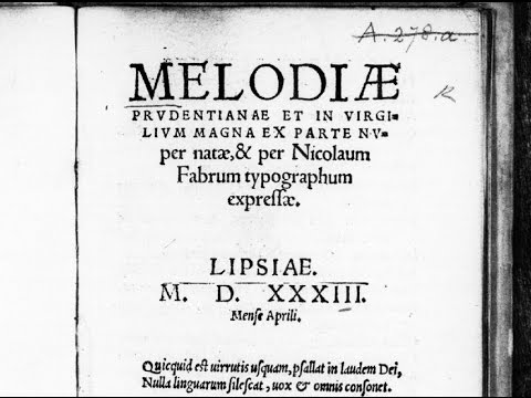 Nicolaus Faber - Ode post cibum (1533)