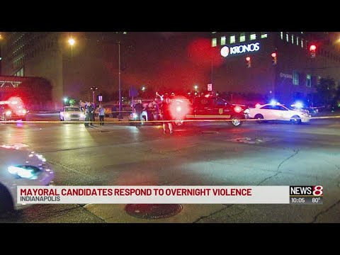 Indianapolis mayoral candidates respond to overnight violence