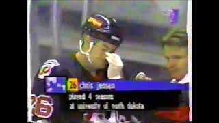 Barry Trotz Coaching for Peoria Rivermen 1994-95 vs.  Albany River Rats