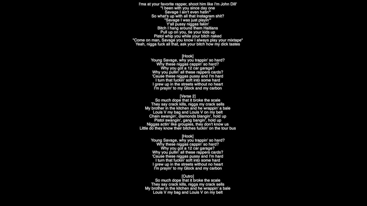 Full Lyrics No Heart 21 Savage Metro Boomin Album Savage Mode