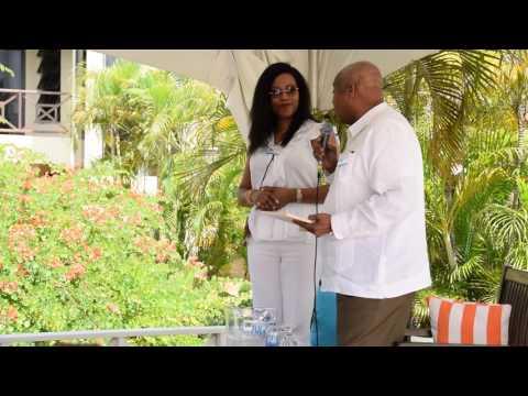 Hon. Victor Banks Ilyasah Shabazz at Anguilla Lit Fest 2017