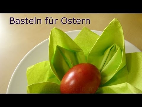 basteln f r ostern osternest basteln mit servietten osterdeko selber machen youtube. Black Bedroom Furniture Sets. Home Design Ideas