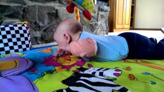 Baby Grant working on tummy time