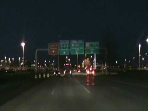 Nashville International Airport at night during construction