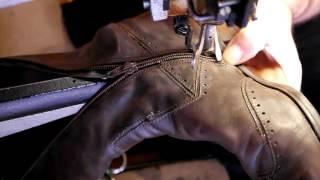 Как поменять молнию на сапогах часть 2. Замена молнии. Ремонт обуви.(, 2013-11-06T03:59:59.000Z)