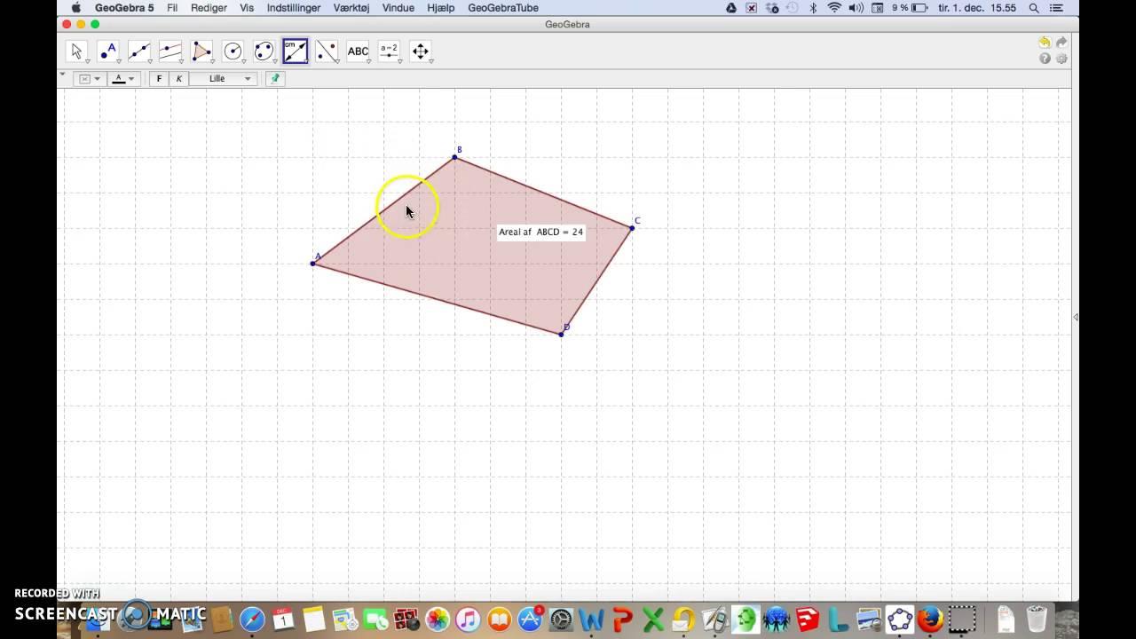Omkreds og areal af firkant