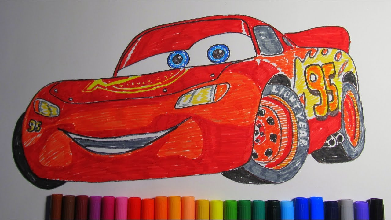 How to draw Lightning McQueen Disney Pixar CARS 3 2017 ...