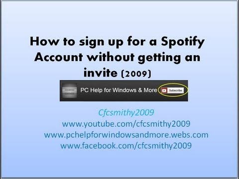 how to make an account on spotify
