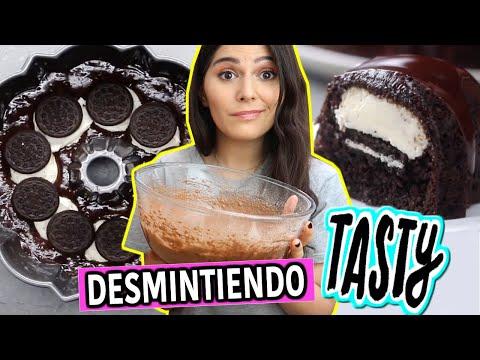 DESMINTIENDO la RECETA MAS PEDIDA de TASTY: CHEESECAKE de OREO Y CHOCOLATE ➜ CARO TRIPPAR