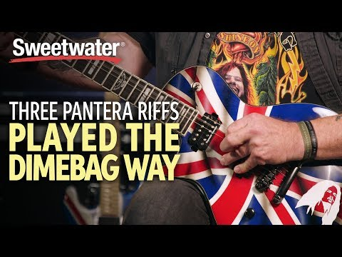 Three Pantera Riffs Played The Dimebag Way 🎸   Guitar Lesson