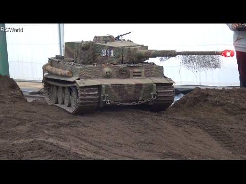 1/4 RC Tiger Tank Panzer IG Militärmodellbau ♦ Emslandmodellbau Lingen 2016 Modellbaumesse