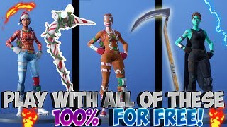 FORTNITE GLITCHES: HOW TO PLAY WITH NOG OPS+GHOUL TROOPER+CANDY AXE & MORE RARE SKINS *Patched*