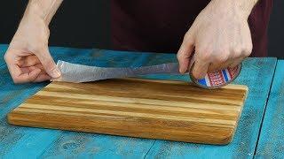 Pega cinta adhesiva en las tablas de cortar de la cocina. ¡Esto es impresionante!