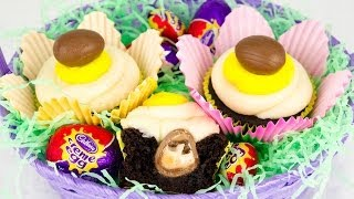 Cadbury Creme Egg Cupcakes From Cookies Cupcakes And Cardio
