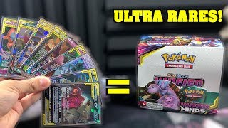 I turned this ENTIRE NEW Pokemon Cards Box of Unified Minds into a SEA OF ULTRA RARES!