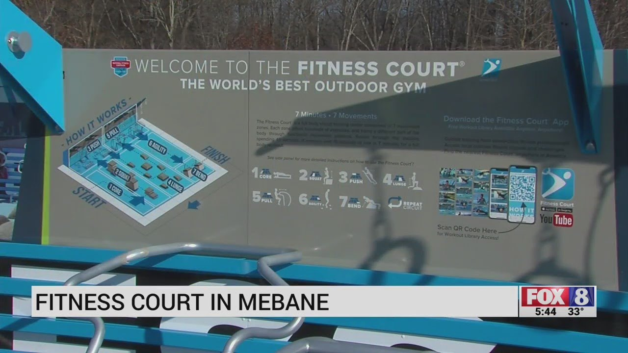 Cone Health Fitness Court offers people an outdoor gym in Mebane
