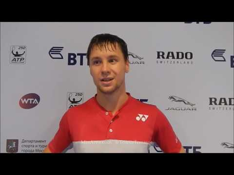 Ricardas Berankis. Flash interview after SF win in Moscow 21.10.17