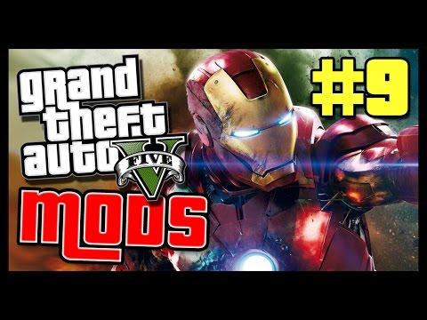 "[GTAV IRON MAN MOD] - ""TONY STARK GOT ALL THE GADGETS"" - [GRAND THEFT AUTO MODS #9]"